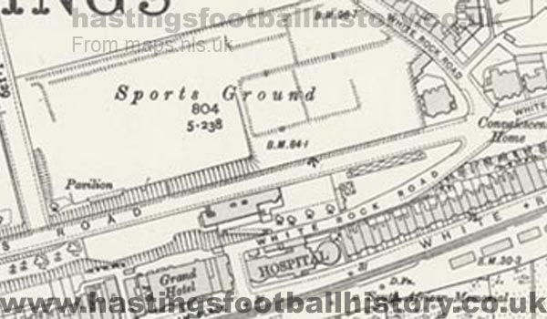 Old map detailing the Sports Ground c1908.