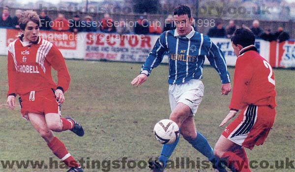 Steve Norman for St Leonards Stamcroft vs Crawley Town. 1997-98.